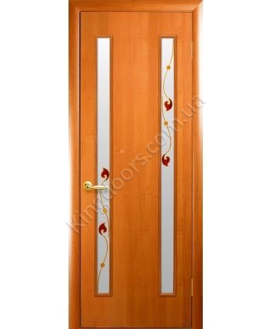 """Межкомнатные ламинированные двери """"Вера"""",ПО+Р1. фабрика """"Новый стиль"""", цвет - ольха"""