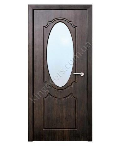 """Межкомнатные двери """"Зеркало"""" ПО. Покрытие пленка ПВХ. Фабрика """"Феникс"""" Цвет - тиковое дерево"""