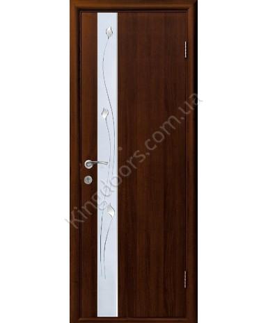 """Межкомнатные ламинированные двери """"Злата"""",ПГ+Р1. фабрика """"Новый стиль"""", цвет - орех"""