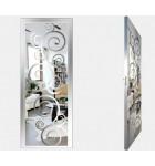 """Межкомнатные стеклокаркасные двери. Модель """"08 S"""". Фабрика Аксиома. Покрытие зеркало. Цвет серебро"""