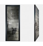 """Межкомнатные стеклокаркасные двери. Модель """"10 G"""". Фабрика Аксиома. Покрытие зеркало. Цвет графит"""