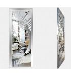 """Межкомнатные стеклокаркасные двери. Модель """"11 S"""". Фабрика Аксиома. Покрытие зеркало. Цвет серебро"""