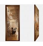"""Межкомнатные стеклокаркасные двери. Модель """"15 В"""". Фабрика Аксиома. Покрытие зеркало. Цвет бронза"""