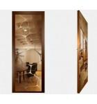 """Межкомнатные стеклокаркасные двери. Модель """"16 В"""". Фабрика Аксиома. Покрытие зеркало. Цвет бронза"""