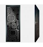 """Межкомнатные стеклокаркасные двери. Модель """"17 MB"""". Фабрика Аксиома. Покрытие зеркало. Цвет моноколор черный"""