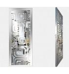 """Межкомнатные стеклокаркасные двери. Модель """"17 S"""". Фабрика Аксиома. Покрытие зеркало. Цвет серебро"""