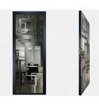 """Межкомнатные стеклокаркасные двери. Модель """"18 G"""". Фабрика Аксиома. Покрытие зеркало. Цвет графит"""