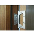 Дверные накладные универсальные петли - бабочки. Цвет серебро