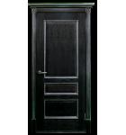 """Межкомнатные шпонированные двери """"Вена - Ш"""" ПО.  Двери Белоруссии. Цвет - черная патина в серебре"""