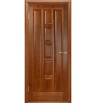 """Межкомнатные шпонированные двери """"Квадро"""" ПОО.  Двери Белоруссии. Цвет - каштан"""