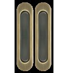 Дверные ручки - лодочки (купе) врезные под раздвижную систему. Цвет сатин