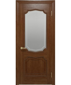 """Межкомнатные шпонированные двери """"Луидор"""" ПО.  Фабрика """"Ваш Стиль"""". Цвет - темный орех"""