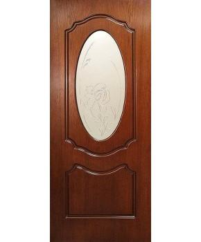 """Межкомнатные шпонированные двери """"Оливия"""" ПО.  Фабрика Омис. Цвет - орех Lux"""