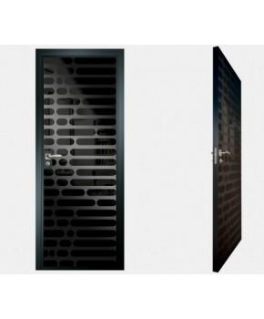 """Межкомнатные стеклокаркасные двери. Модель """"01 MB"""". Фабрика Аксиома. Покрытие зеркало. Цвет моноколор черный"""