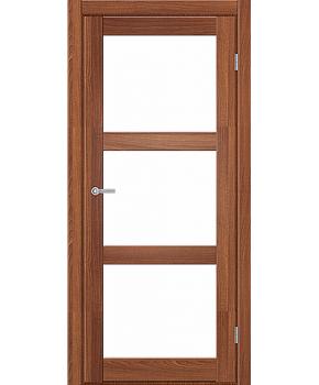 """Межкомнатные двери ART 03-02. Пленка ПВХ. Фабрика """"Art Door"""". Цвет орех"""