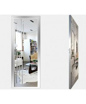 """Межкомнатные стеклокаркасные двери. Модель """"03 S"""". Фабрика Аксиома. Покрытие зеркало. Цвет серебро"""