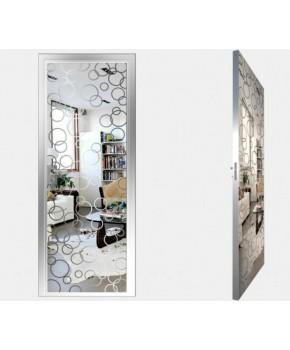 """Межкомнатные стеклокаркасные двери. Модель """"04 S"""". Фабрика Аксиома. Покрытие зеркало. Цвет серебро"""