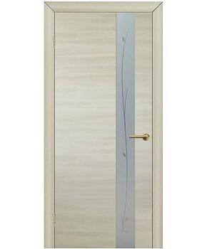 """Межкомнатные двери """"Зеркало 1"""" ПО. Фабрика Омис. Покрытие пленка ПВХ. Цвет - дуб беленый"""