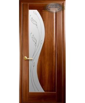 """Межкомнатные двери """"Эскада"""",ПО +Р2. пленка ПВХ, фабрика """"Новый стиль"""", цвет - золотая ольха."""