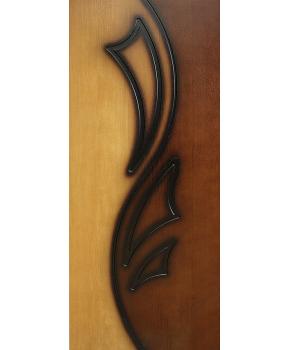 """Межкомнатные шпонированные двери """"Лилия 2"""" ПГ.  Фабрика Омис. Цвет - дуб тонированный натуральный - орех лесной"""