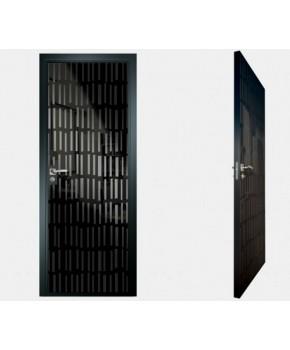 """Межкомнатные стеклокаркасные двери. Модель """"10 MB"""". Фабрика Аксиома. Покрытие зеркало. Цвет моноколор черный"""