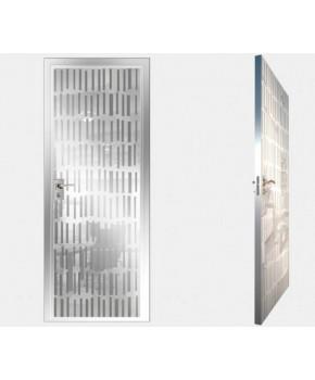 """Межкомнатные стеклокаркасные двери. Модель """"10 MW"""". Фабрика Аксиома. Покрытие зеркало. Цвет моноколор белый"""