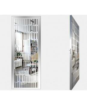 """Межкомнатные стеклокаркасные двери. Модель """"10 S"""". Фабрика Аксиома. Покрытие зеркало. Цвет серебро"""