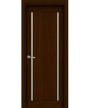 """Межкомнатные шпонированные двери """"Твинс"""" ПО.  НСД. Цвет - каштан"""