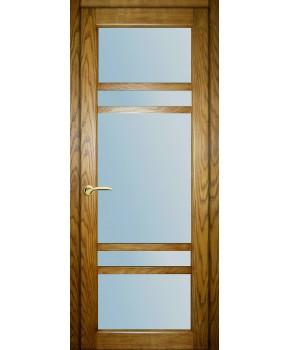 """Межкомнатные шпонированные двери """"Бруклин"""" ПОО.  НСД. Цвет - дуб классический"""