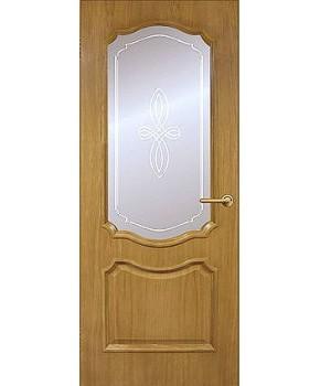 """Межкомнатные шпонированные двери """"Кармен"""" ПО.  Фабрика Омис. Цвет - дуб тонированный натуральный"""