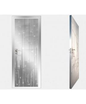 """Межкомнатные стеклокаркасные двери. Модель """"12 MW"""". Фабрика Аксиома. Покрытие зеркало. Цвет моноколор белый"""
