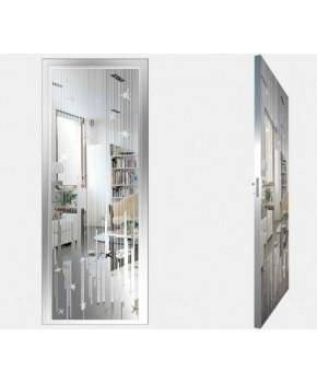 """Межкомнатные стеклокаркасные двери. Модель """"12 S"""". Фабрика Аксиома. Покрытие зеркало. Цвет серебро"""