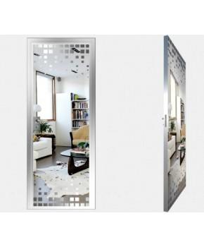 """Межкомнатные стеклокаркасные двери. Модель """"14 S"""". Фабрика Аксиома. Покрытие зеркало. Цвет серебро"""