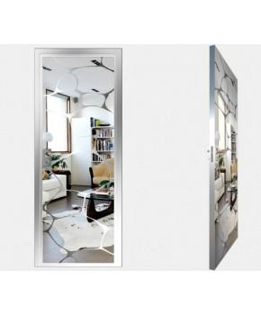 """Межкомнатные стеклокаркасные двери. Модель """"16 S"""". Фабрика Аксиома. Покрытие зеркало. Цвет серебро"""