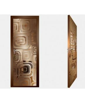 """Межкомнатные стеклокаркасные двери. Модель """"17 В"""". Фабрика Аксиома. Покрытие зеркало. Цвет бронза"""