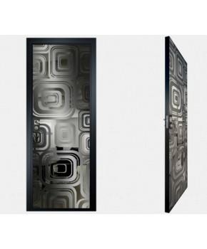 """Межкомнатные стеклокаркасные двери. Модель """"17 G"""". Фабрика Аксиома. Покрытие зеркало. Цвет графит"""