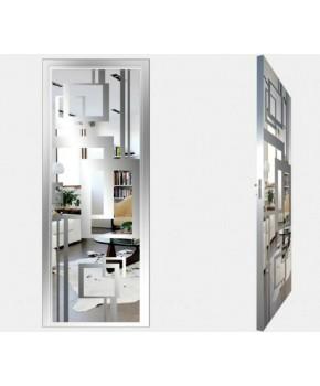 """Межкомнатные стеклокаркасные двери. Модель """"18 S"""". Фабрика Аксиома. Покрытие зеркало. Цвет серебро"""