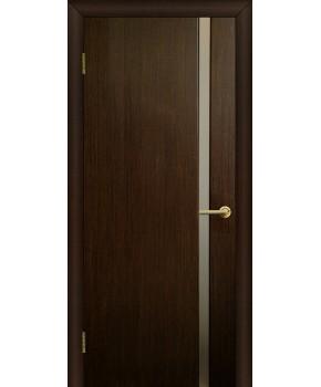 """Межкомнатные шпонированные двери """"Премьера 1"""" ПО.  Фабрика Омис. Цвет - венге FL"""