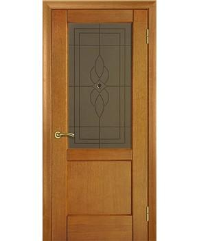 """Межкомнатные шпонированные двери """"Классик 1"""" ПО.  НСД. Цвет - анегри"""