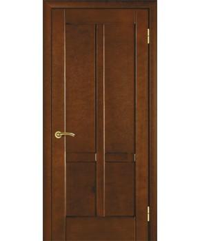 """Межкомнатные шпонированные двери """"Классик 2"""" ПГ.  НСД. Цвет - каштан"""