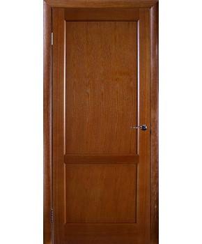 """Межкомнатные шпонированные двери """"Классик 1"""" ПГ.  НСД. Цвет - каштан"""