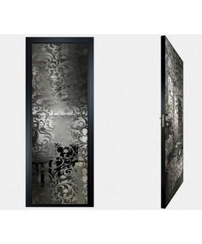 """Межкомнатные стеклокаркасные двери. Модель """"20 G"""". Фабрика Аксиома. Покрытие зеркало. Цвет графит"""