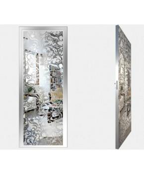 """Межкомнатные стеклокаркасные двери. Модель """"20 S"""". Фабрика Аксиома. Покрытие зеркало. Цвет серебро"""