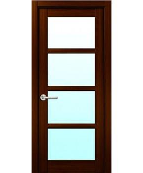 """Межкомнатные шпонированные двери """"Модерн"""" ПО.  НСД. Цвет - венге"""