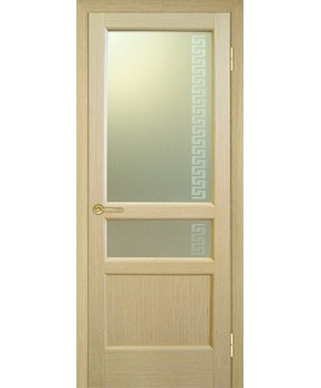 """Межкомнатные шпонированные двери """"Классик 4"""" ПО + Рис.5.  НСД. Цвет - дуб классический"""