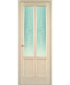 """Межкомнатные шпонированные двери """"Классик 2"""" ПО + Рис.3.  НСД. Цвет - дуб беленый"""