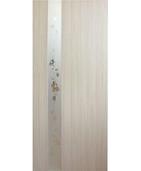 """Межкомнатные двери """"Зеркало 2"""" ПО. Фабрика Омис. Покрытие пленка ПВХ. Цвет - дуб беленый"""