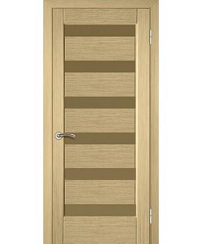 """Межкомнатные шпонированные двери """"Лагуна"""" ПО.  НСД. Цвет - сандал"""