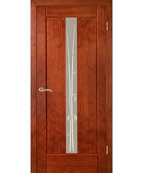 """Межкомнатные шпонированные двери """"Ланда"""" ПО.  НСД. Цвет - анегри"""