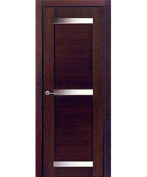"""Межкомнатные шпонированные двери """"Дублин 3"""" ПО.  НСД. Цвет - каштан"""